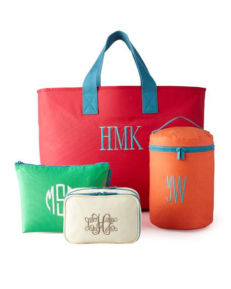 Monogrammed Large Zip Bag
