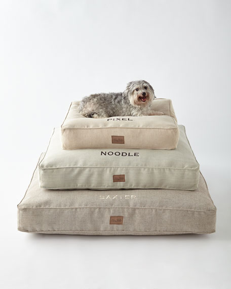 Small Natural Tweed Bed