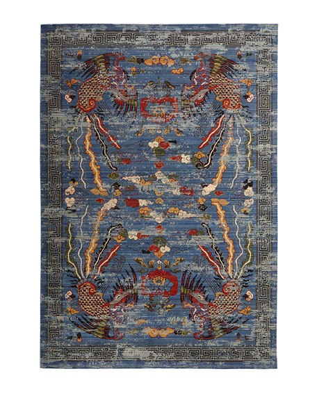 "Imperial Blue Rug, 5'6"" x 8'"