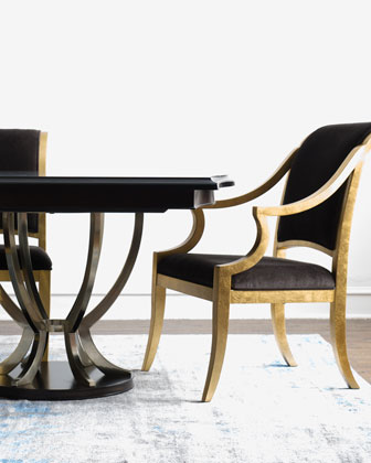 Lambert Double-Pedestal Table & Elizabeth Dining Chairs