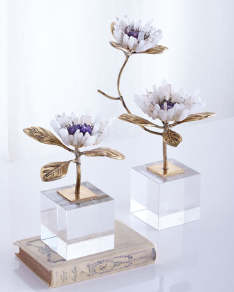 Crystal Bloom Floral Sculptures
