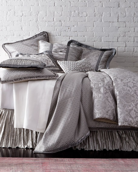 King Aviana Prism Plisse Coverlet