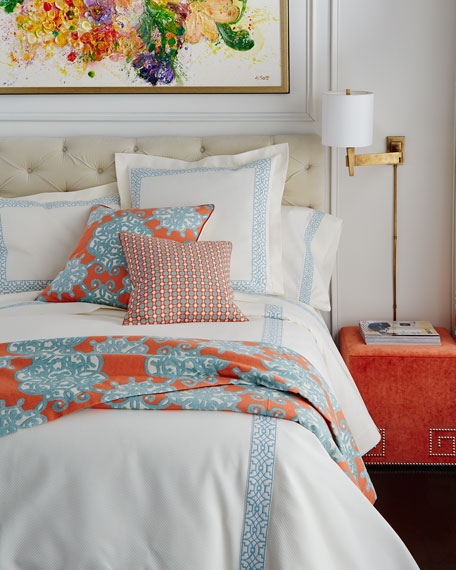 Queen Dakota Coverlet with Ming Embroidery