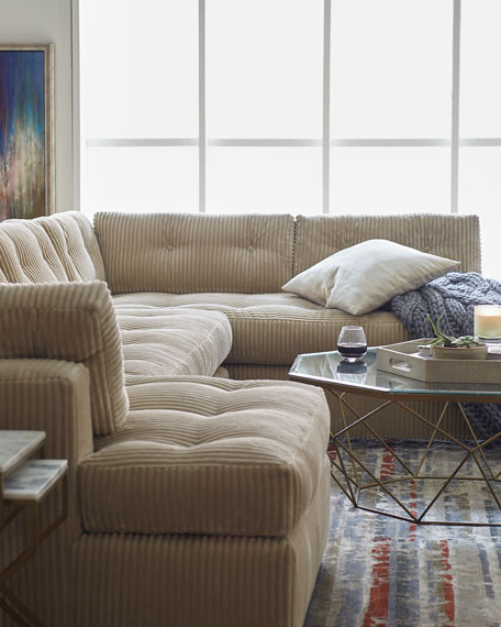 McLain Ivory 3-Piece Left-Side Chaise Sectional 136.5""