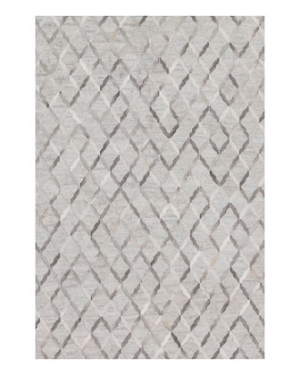 Audie Silver Hairhide Rug