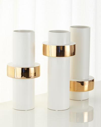 Golden Ring Vases