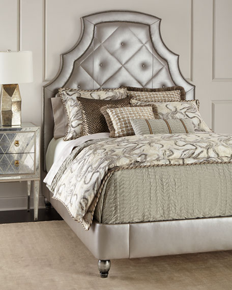 Bambi Quilted-Leather Queen Bed