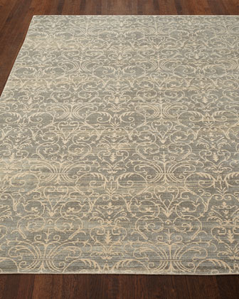 Courtly Blue Rug