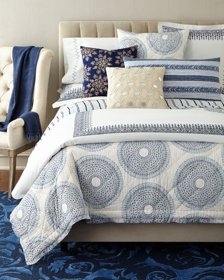 Queen Hand-Stitched Voile Coverlet