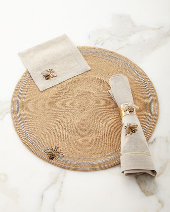 Striped Bee Placemat, Napkins, & Napkin Rings