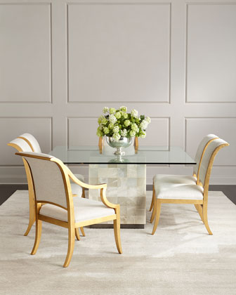 Palmetto Quartz Dining Table & Elizabeth Dining Chairs