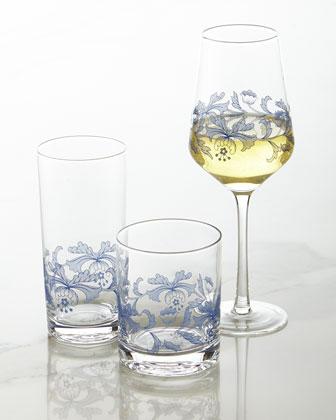 Blue Italian Glassware