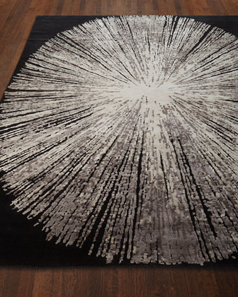 Cosmopolitan Noir Hand-Knotted Rug  8' x 10'  and Matching Items
