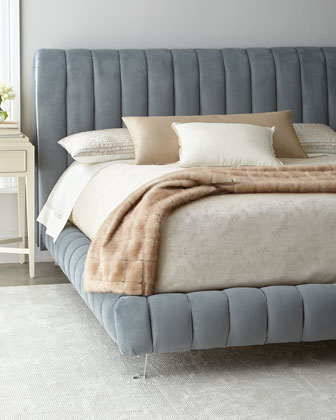 Amal Channel-Tufted Queen Platform Bed  and Matching Items