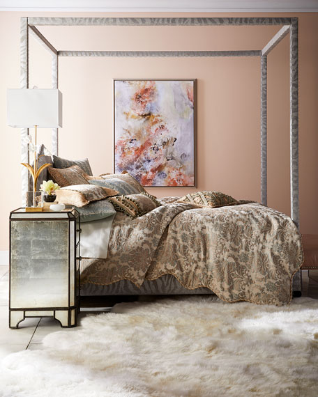 Athena Zebra Queen Canopy Bed