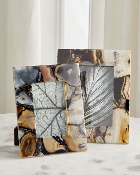 """Rich Brown Clear Agate Picture Frame, 5"""" x 7"""""""