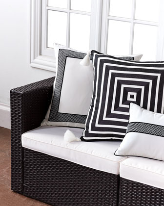 Awning Monochrome Pillow  and Matching Items