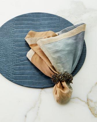 Dip-Dye Linen Napkin  Neutral and Matching Items