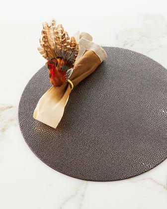 Natural/Brown Dip Dye Napkin and Matching Items