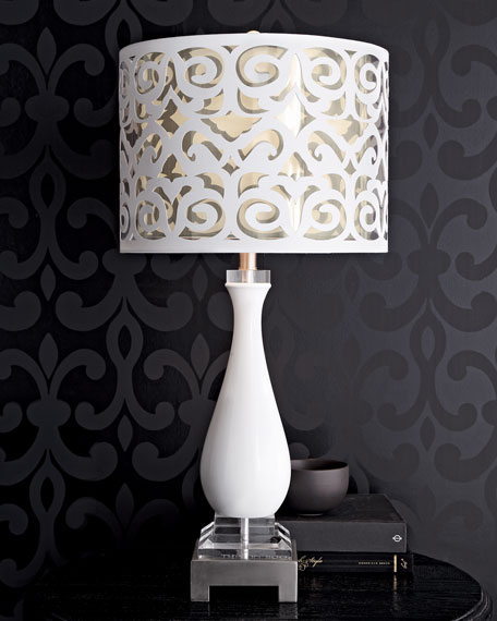Scroll-Shade Table Lamp