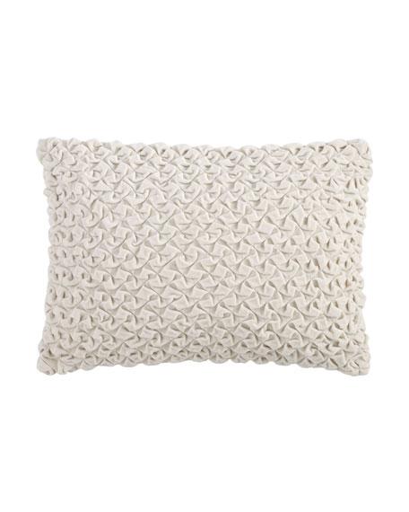 """Ruched Velvet Pillow, 14"""" x 20"""""""