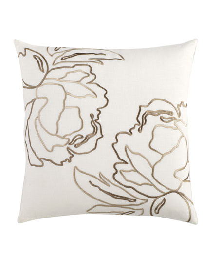 """Embroidered Pillow, 20""""Sq."""