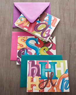 KELLY KAY xx Colorful Initial Cards