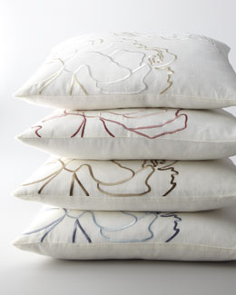 "SFERRA Embroidered Pillow, 20""Sq."