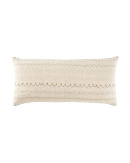 "Dransfield & Ross House Embroidered Breakfast Pillow, 12"" x 26"""