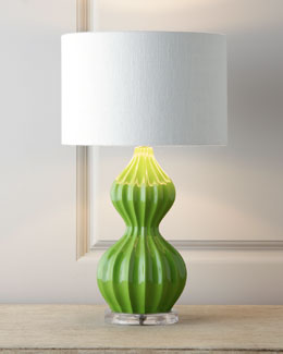 "Green ""Peanut"" Lamp"