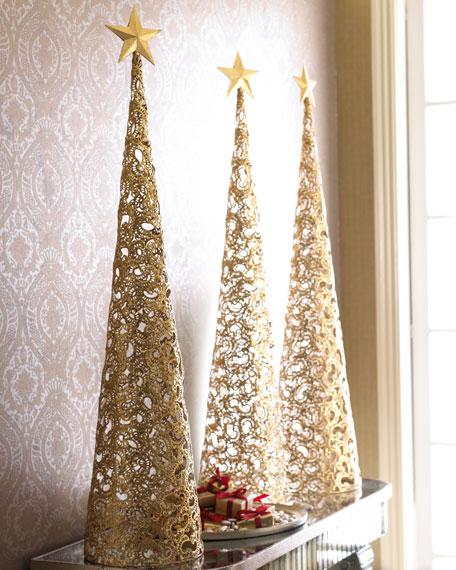 Each Golden Filigree Christmas Tree