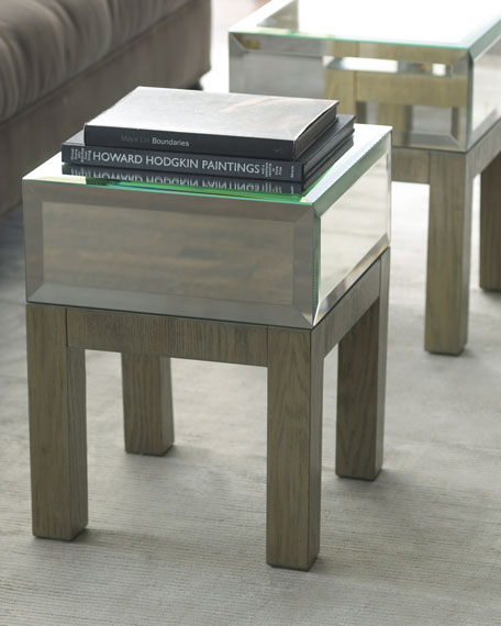 """Milo"" Mirrored Side Table"