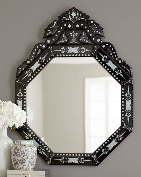 "Black ""Vasari"" Mirror"