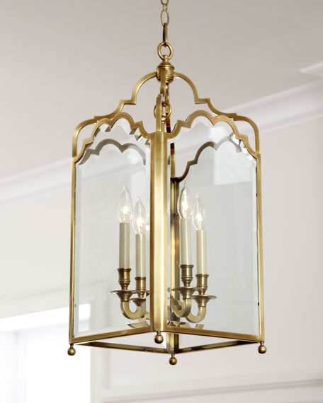 Glass Panel Chandelier