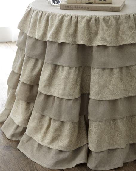 """90"""" Round Layered Cloth"""