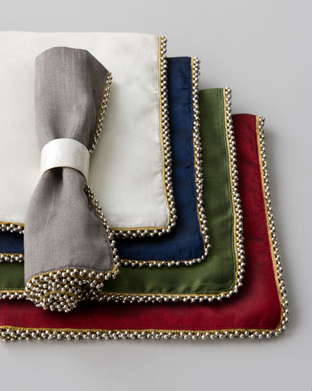 Four Beaded-Edge Napkins