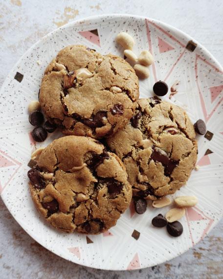 Vegan Peanut Butter Chocolate Chip Cookies, 8-Pack