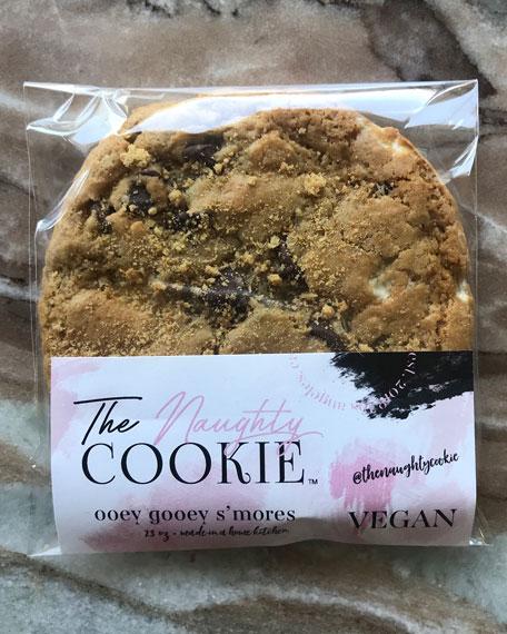 The Naughty Cookie Vegan Ooey Gooey S'mores Cookies,
