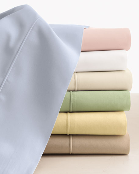 King Italian 500 Thread Count Percale Flat Sheet