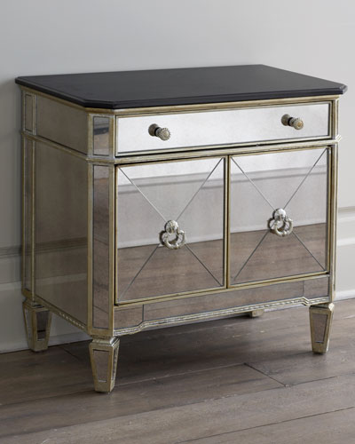 Amelie Two-Door Mirrored Chest
