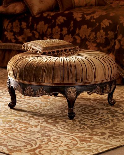 Scala Round Velvet Ottoman