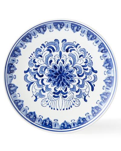 Set of 12 Assorted Blue & White Dinner Plates