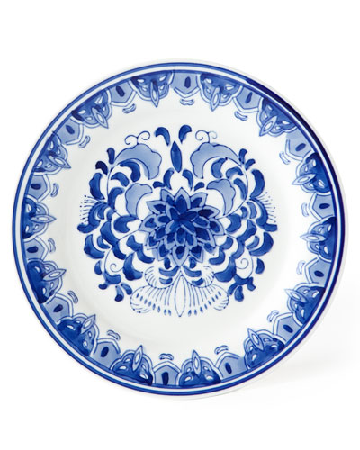 Set of 12 Assorted Blue & White Dessert Plates