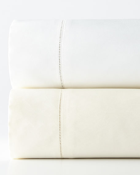 King 1,020TC Solid Sateen Fitted Sheet
