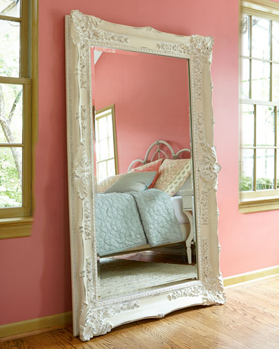 Decorative wall mirrors floor mirrors at horchow for Fancy floor mirrors