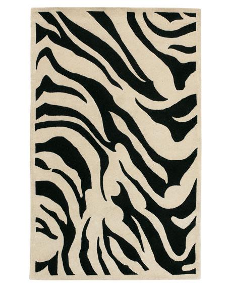 Modern Zebra Rug, 5' x 8'