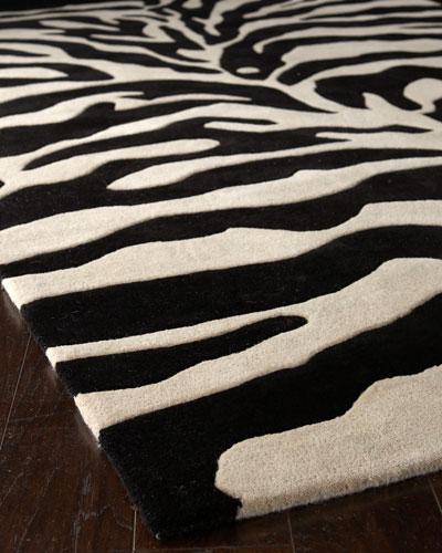 Fair Ivory Zebra Rug  6' Square