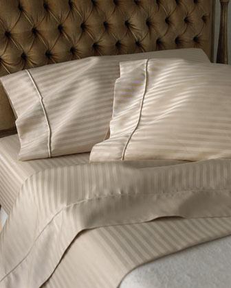 Queen 600 Thread Count Pima Stripe Sheet Set