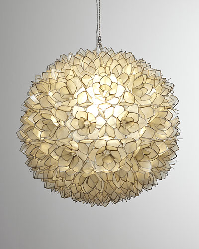 Capiz-Shell 1-Light Pendant