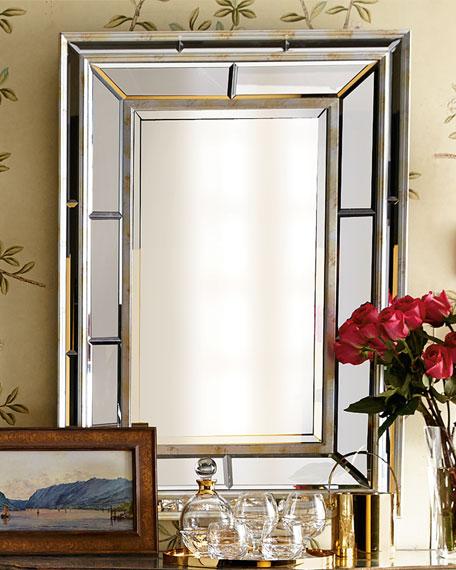 Double bevel mirror for Beveled glass bathroom mirror